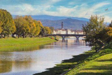 Parco-delle-Cascine-di-Firenze-con-un-cane
